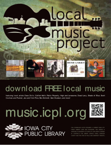 Poster from the Local Music Project at Iowa City Public Library.