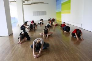 A contemporary dance workshop at Flushing Public Library in Queens, NY.
