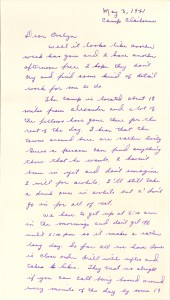 Clarence Clark letter, May 3, 1941, page 1. http://diyhistory.lib.uiowa.edu/transcribe/3197/77986