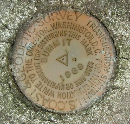 Standard NGS triangulation station disk
