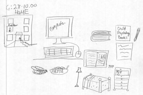 City College student's drawing of home