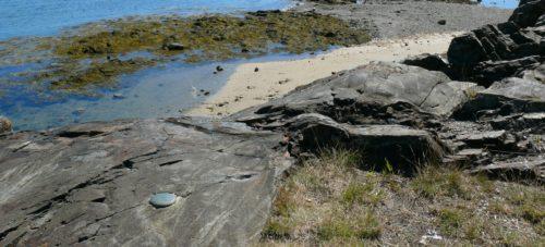 USGS bench mark K 10 in Bar Harbor, Maine